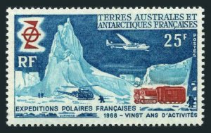 1969 French Antarctic Territory 50 Airplane and helicopter 35,00 €