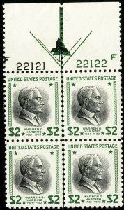 US Stamps # 833 MNH Superb Double arrow Plate Block of 4 Fresh