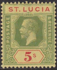 St Lucia 1913-1914 SC 89 Mint