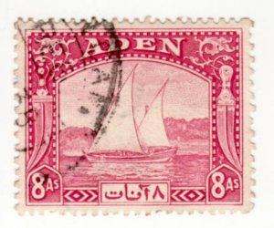Aden #8 Used, CV $12   .....  0020008