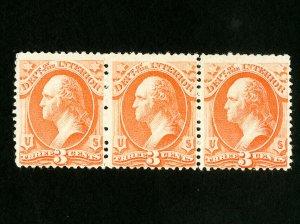 US Stamps # O98 F+ P.O. fresh strip of 3 OG NH Scott Value $67.50