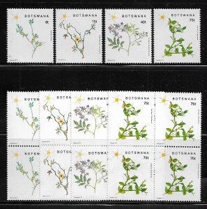 Botswana #448-51 MNH Set - Flowering Plants - Wholesale X 5