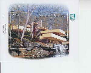 2017 Marshall Islands Frank Lloyd Wright SS (Scott NA) MNH