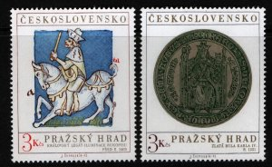 CZECHOSLOVAKIA  1884-1885 MNH PRAGUE CASTLE ART SET 1971