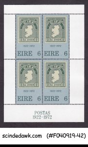 IRELAND - 1972  50th ANNIV. OF 1st IRISH STAMP - MIN/SHT MNH