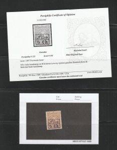 Persian stamp, Scott#101, mint original gum, Certified, excellent centering,,