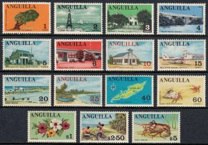 ANGUILLA —SCOTT 17-31 —1968-69 PICTORIAL SET — MNH/MLH — SCV $20
