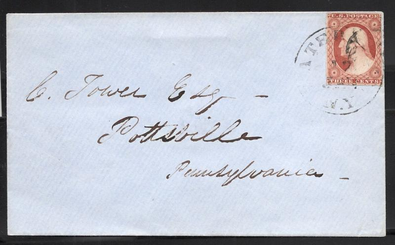 US#10A Copper Brown - On Cover