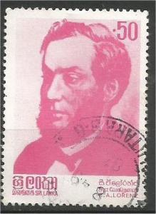 SRI LANKA, 1983, used 50c, Charles A. Lorenz Scott 673