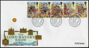 Great Britain 1289-1293a FDC.Michel 1230-1234. Lord Mayor's Show,1989.