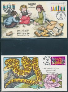 #3118, 3500 ON 2 DIFFERENT COLLINS HANDPAINTED FDC CACHETS BV2731