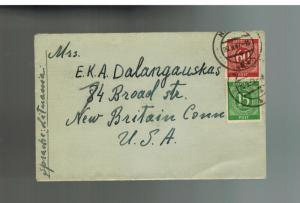 1947 Hanau Germany Displaced Person Camp DP Cover to USA Z Dalangauskas