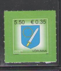 Estonia Sc 606 2008 Vorumaa arms stamp mint NH