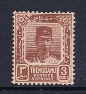 Trengganu a MH 3c brown from the 1921 set