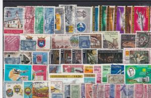 vintage colombia stamps ref r9774