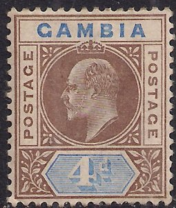 Gambia 1902 - 05 KEV11 4d Brown & Blue MM SG 50 ( E502 )