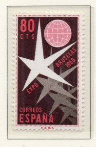 Spain 1958 Early Issue Fine Mint Hinged 80c. NW-136722