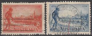 Australia #142-3 F-VF Used  CV $8.25 (S2244)
