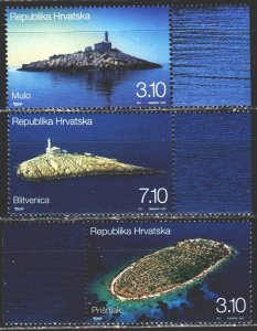 Croatia. 2011. 1006-8. Lighthouses, tourism. MNH.