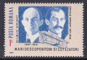 Romania #3345 single F-VF Mint NH ** The Wright Brothers