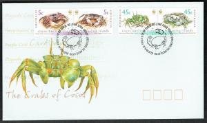 Cocos (Keeling) Is. Endangered Species Crabs of Cocos Keeling Islands 4v FDC