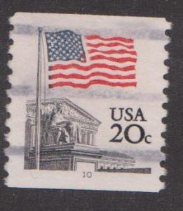US #1895a Supreme Court Flag Used PNC Single plate #10