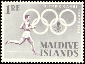 1964 Maldive Islands #139-146, Complete Set(8), Never Hinged