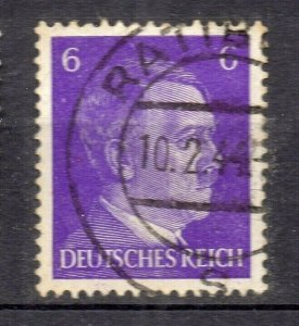 Germany 1941 Hitler Stamp Early Issue Fine Used 6pf. NW-105130