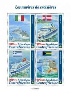 C A R - 2019 - Cruise Ships - Perf 4v Sheet  - M N H