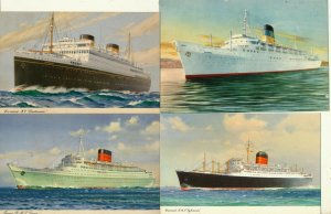 ISRAEL 1950's PASSENGER SHIPS POST CARDS LOT # 2 - SEE 2 SCANS