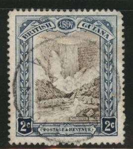 British Guiana Scott 153 Used  1897 waterfall stamp