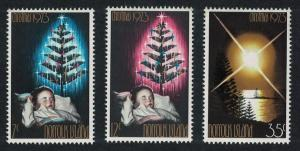 Norfolk Christmas 3v issue 1973 SG#130-132 SC#153-155