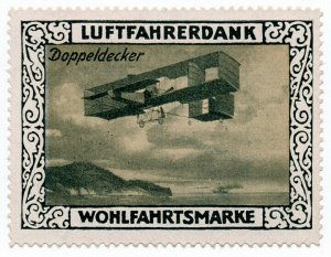 (I.B) Germany Cinderella : Pilot's Charity Stamp (Biplane)