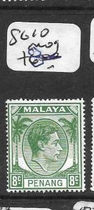 MALAYA PENANG  (P0101B) KGVI 8C  SG10   MOG