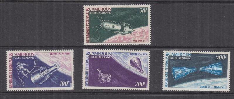 CAMEROON, 1966 Spacecraft set of 4, lhm.