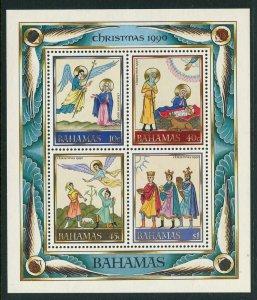 Bahamas 1990 Christmas S/S Sc# 708a NH