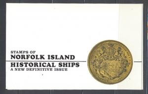 Norfolk Island MNH sc# 100-113 Ships in Folder