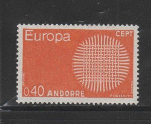 ANDORRA, FRENCH #188  1969   EUROPA  MINT VF NH  O.G