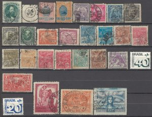 COLLECTION LOT OF #1423 BRAZIL 29 STAMPS 1866+