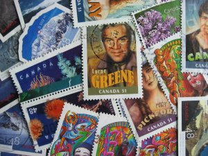 Canada 21 different used ex souvenir sheet stamps from 1998-2013 era