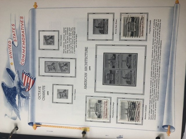 Postage Stamps Of The United States 1970-1979 Lots Of Stamps In Book With Case