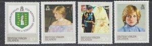 British Virgin Is 430-33 Princess Diana (ap7764)