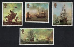 Jersey Marine Paintings by Peter Monamy 4v SG#115-118