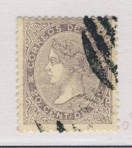 SPAIN - 1867 - 20c LILAC MiNr.85 - FINE USED (minute cut)