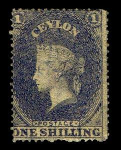 1861 Ceylon #23 QV Watermark 6 - Unused NG - Fine + - CV$145.00 (ESP#3558)