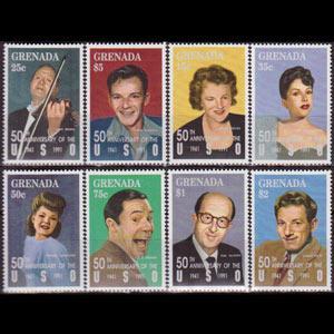 GRENADA 1992 - Scott# 2083-90 Actors Set of 8 NH