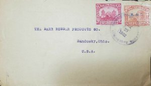 O) 1932 NICARAGUA, ARCHITECTURE - LEON CATHEDRAL - PALACE MANAGUA, TO USA