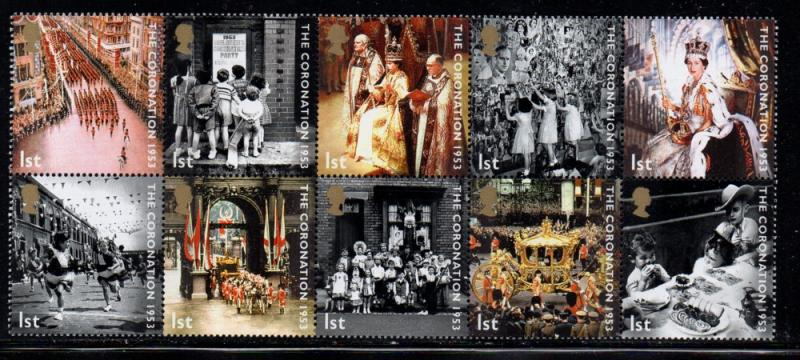 Great Britain Sc 2136a 2003 Coronation stamp block mint NH