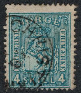 Norway #14  CV $15.00  Christianssand, Norway cancellation