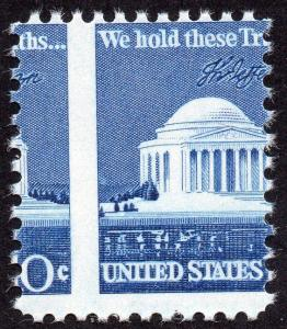 SCOTT # 1510 JEFFERSON MEMORIAL EFO AMAZING MNH MISPERF VERY NICE !!!